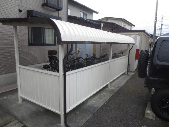 長野市K様 駐輪場塗装工事