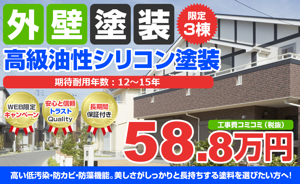 高級油性シリコン塗装 58.8万円