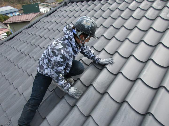 屋根ケレン処理