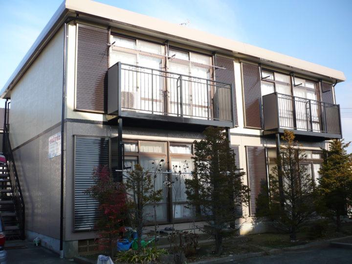 長野市F様 アパート外壁・屋根塗装工事