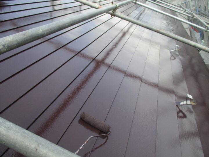 屋根上塗り2回 仕上げ