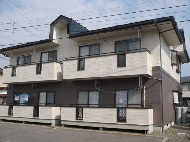 長野市T様 アパート外壁・屋根塗装工事