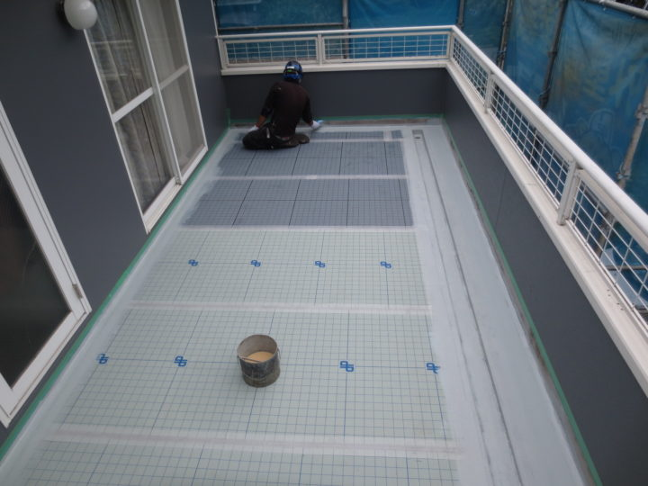 バルコニー床防水工事