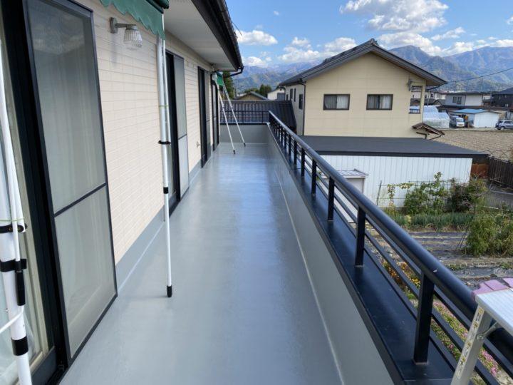 長野市M様 バルコニー床塗装工事