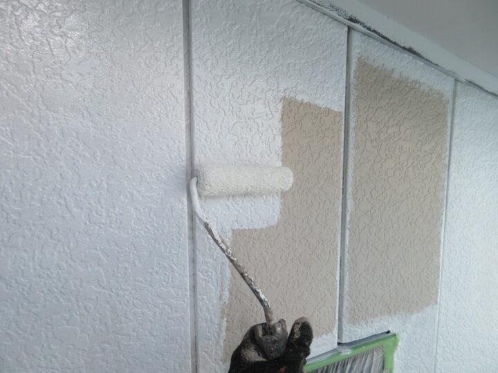 外壁(金属サイディング部)下塗り