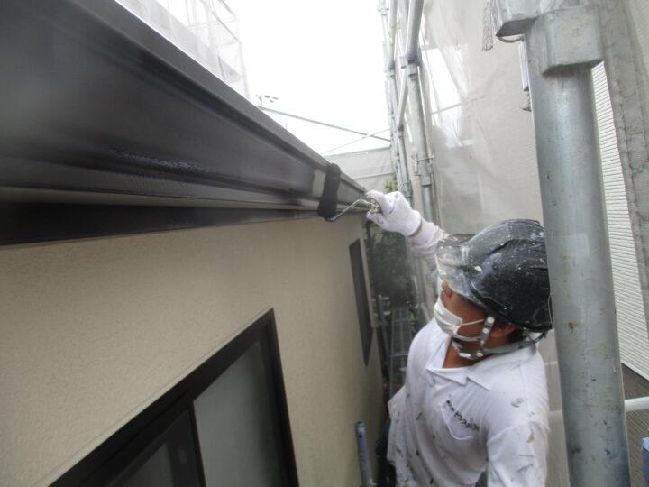 破風板・雨樋塗装