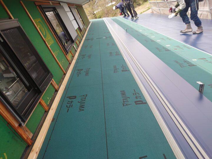 新規屋根材取付