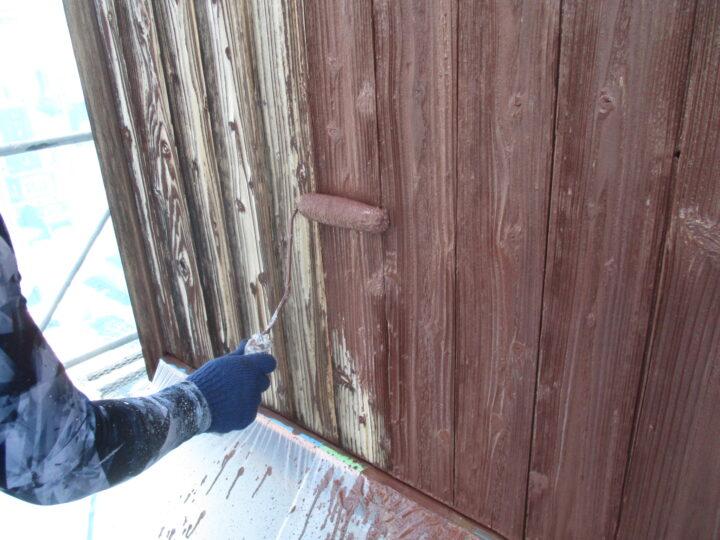 木部壁塗装