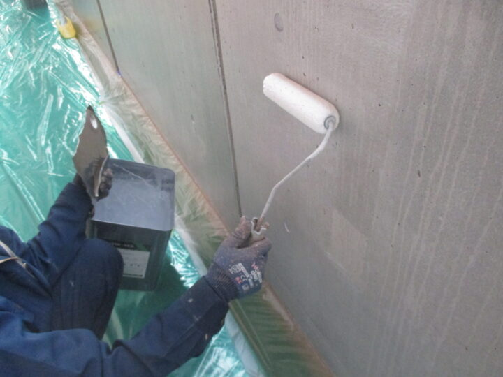 コンクリート面疎水塗装