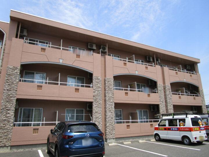 長野市K様 アパート外壁・屋根塗装工事