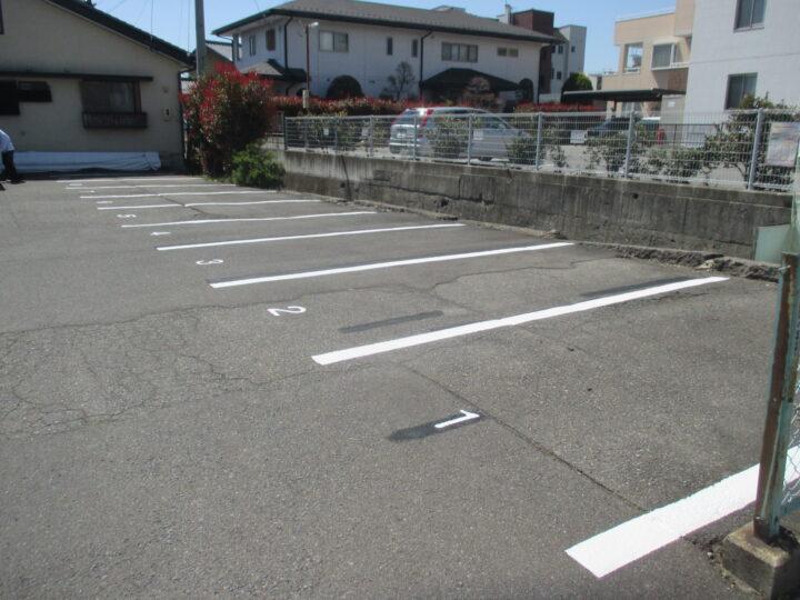 長野市七瀬  駐車場白線引き(ライン引き)工事