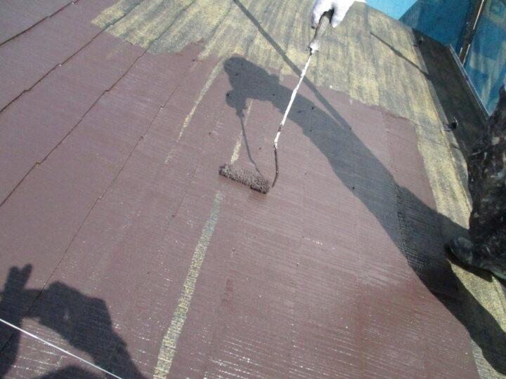 屋根上塗り(1回目)