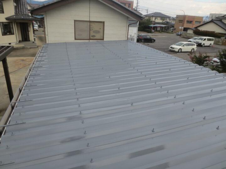 長野市T様 車庫屋根塗装工事