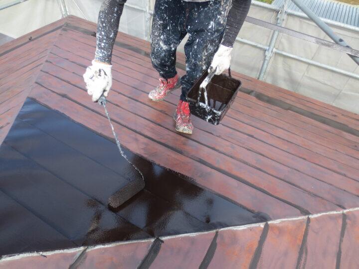 大屋根下塗り