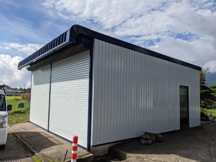 信濃町H様 車庫外壁・屋根塗装工事