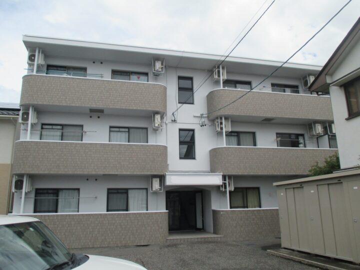 松本市 アパート外壁・屋根塗装工事